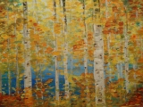 Golden Autumn I and II (Russian Birch Trees)
