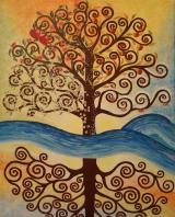 Tree of Life (Tribute to Gustav Klimpt)(unfinished)